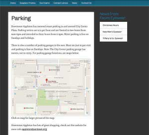 parking Map by Brook Web Works